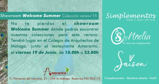 Showroom Welcome Summer Market, 19 de junio