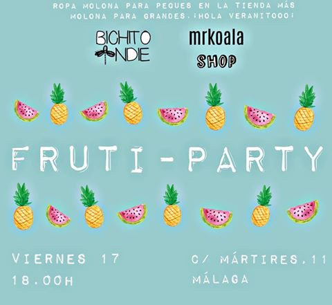 Fruti-party en Mr Koala con Bichito Indie, 17 de junio