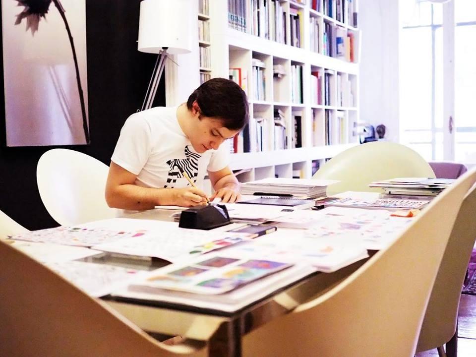 Jaime, con sus diseños