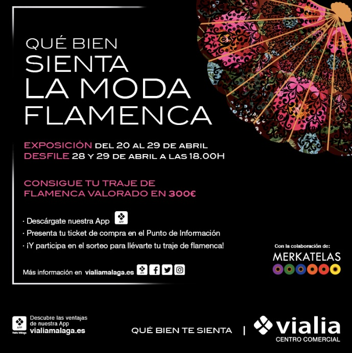 Cartel de las jornadas de moda flamenca en Vialia
