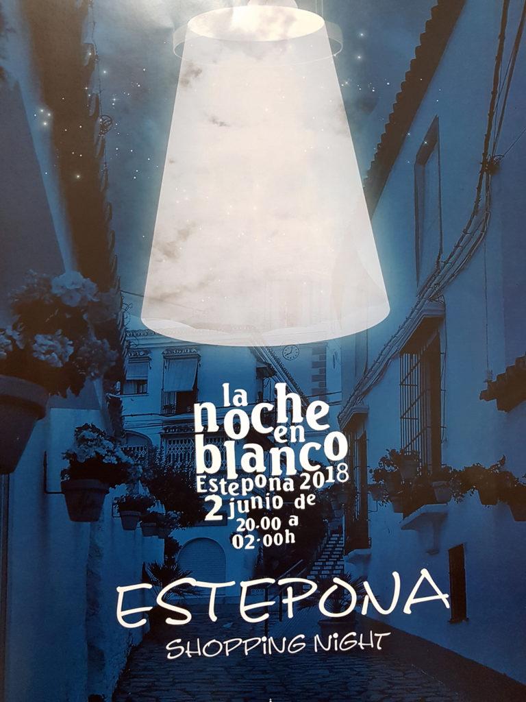 Cartel de la Noche en Blanco en Estepona 2018
