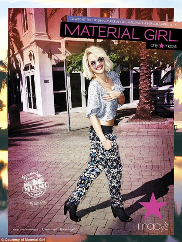 Rita Ora, para Material Girl Collection