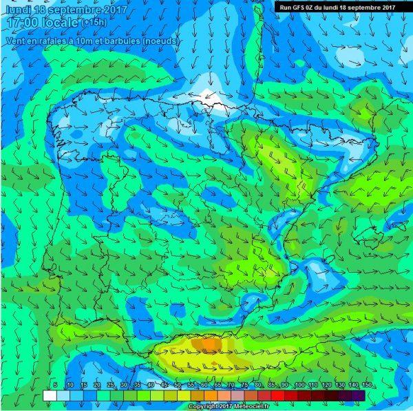 El tiempo en Andaluca rachas fuertes de viento de componente